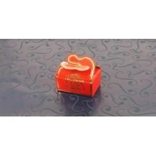 Mini BALLOTIN  papillon rouge 4 chocolats + 2 amandes N° 311