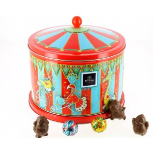 Carrousel musical garni de 450 g de chocolats Léonidas