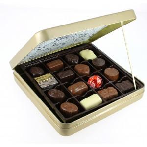 Coffret Héritage métal 460 g de Chocolats Léonidas