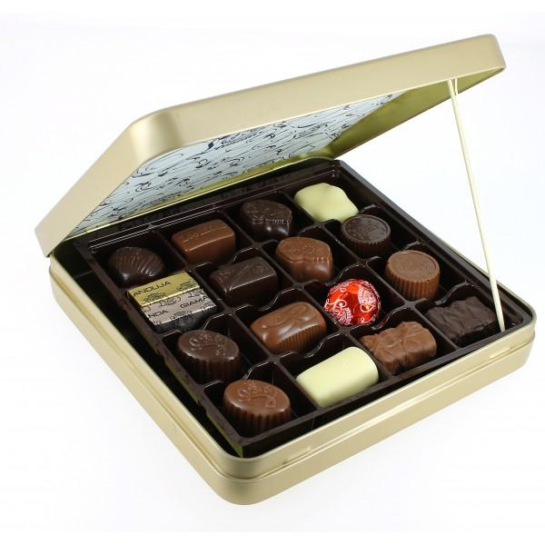 Coffret Héritage métal 460g de Chocolats Léonidas