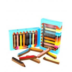 Coffret crayons de couleur en Chocolat Leonidas