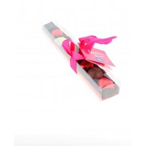 Réglette Saint Valentin garnie de 140g de Chocolats Léonidas