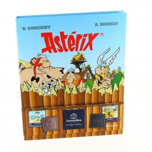 Livre BD Astérix garni de 195 g de Chocolats Leonidas