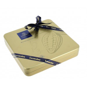Coffret Héritage doré et ses 290g de Chocolats Léonidas.