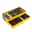Coffret Prestige 2 étages garni de 675g de Chocolats Leonidas.