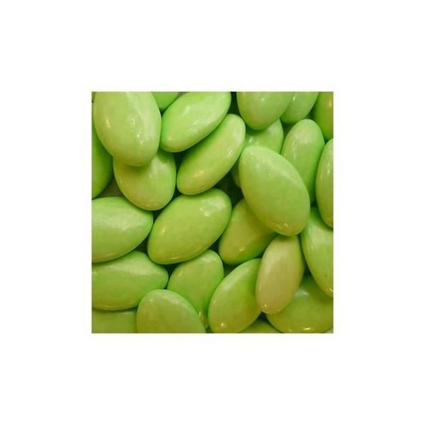 Dragées au chocolat vert anis 500g.