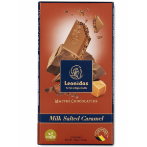 Tablette 100 g de chocolat Leonidas au lait au caramel salé