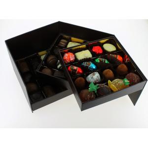 Coffret Prestige 3 étages garni de 750 g de Chocolats Leonidas