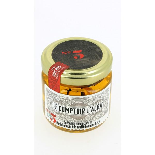Miel d'Acacia à la truffe blanche d'été 120g.