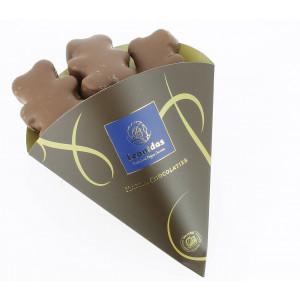 Cornet de 6 oursons en guimauve enrobés de chocolat Leonidas