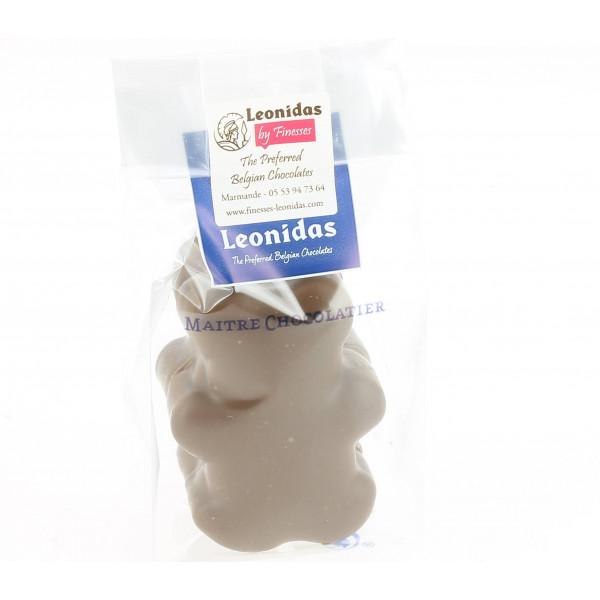 Sachet deux oursons en guimauve au chocolat Leonidas