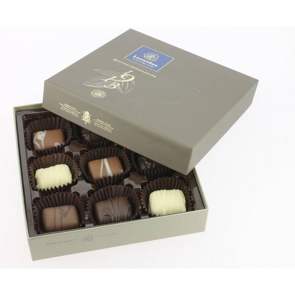 Coffret Découverte Mosaïque garni de 135 g de chocolats Leonidas