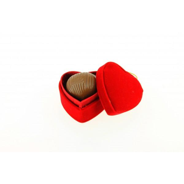 Coeur de table marron praliné Léonidas N° 416