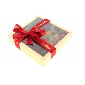 boîte cristal argent de 16 Pâtes de FRUITS Léonidas N° 100