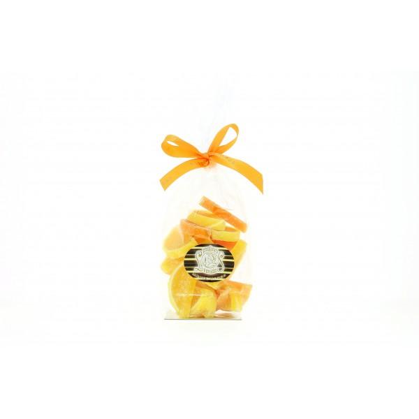 Sachet de 250g de demies tranches d'oranges et citrons en gelée