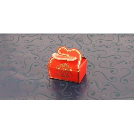 Mini BALLOTIN  papillon rouge 4 chocolats + 2 amandes