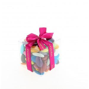 Cube de 300 g de dragées au chocolat