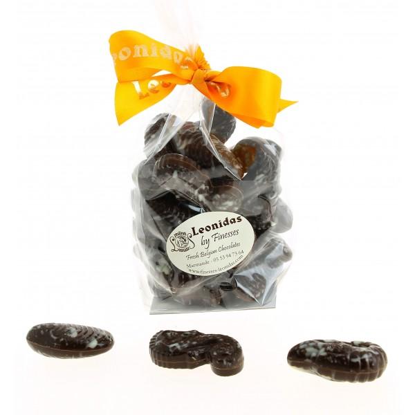 Sachet de fruits de mer pralinés en Chocolat Leonidas noir 250 g